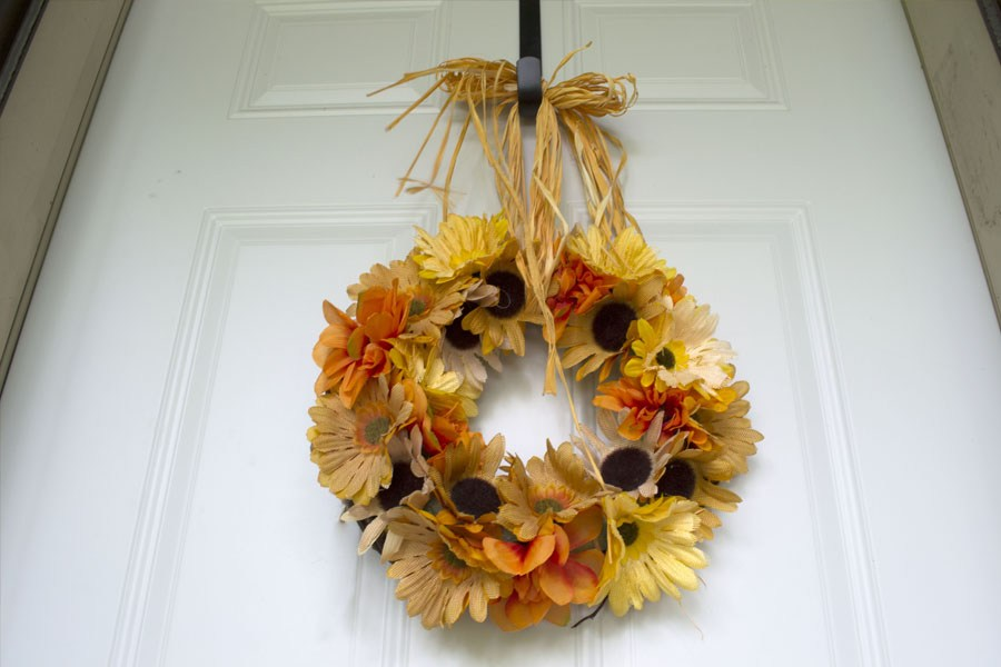 Floral Dollar Tree Wreath via North Country Nest