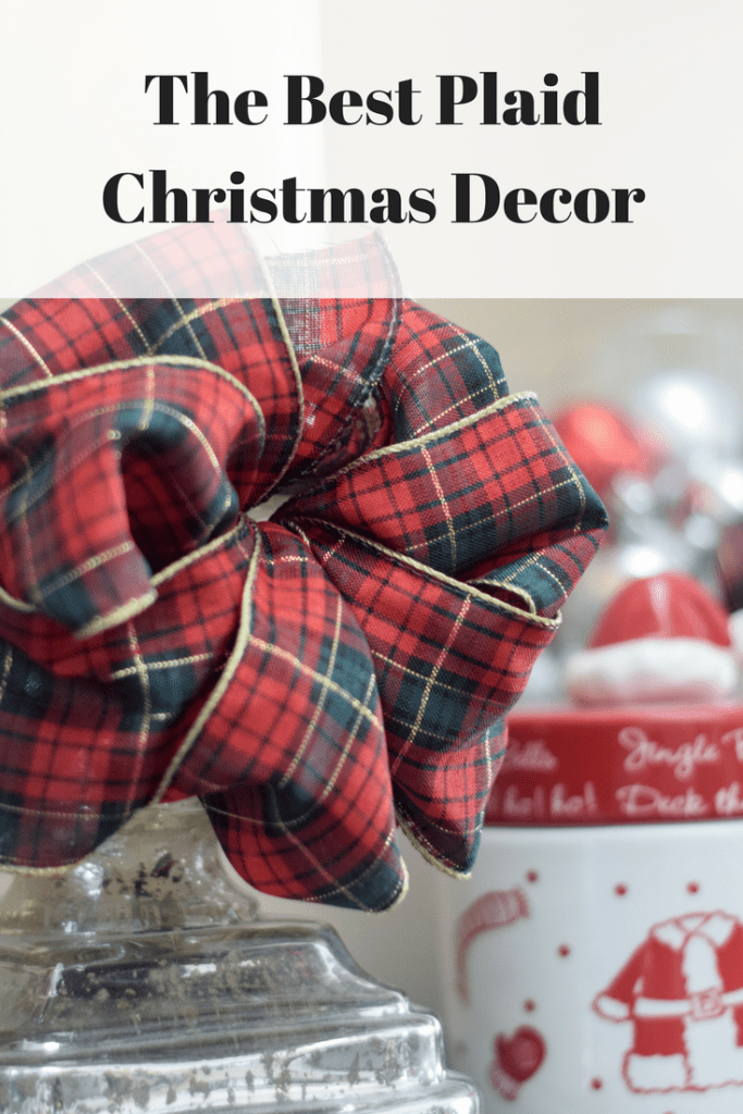 Favorite plaid Christmas decor, including table linens, dishes and more