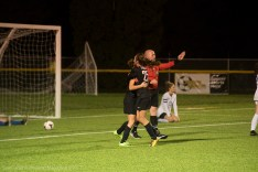 Colleen Swift shortly after scoring the winning goal