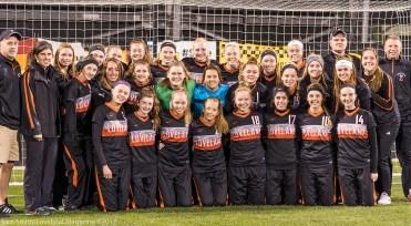 The Loveland Women's varsity soccer team