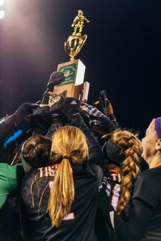 Loveland hoists their trophy