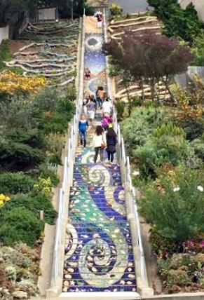 Mosaic staircase in San Fran.