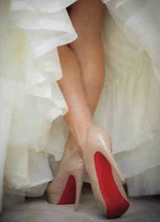 The shoes were made for walking…down an aisle!