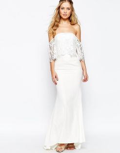 5. Off-shoulder with fishtail