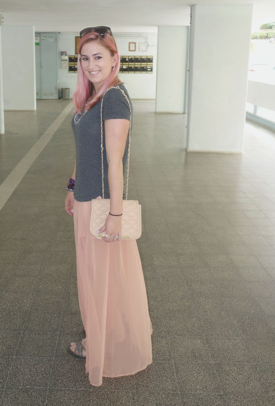 Dressing down a Maxi Skirt