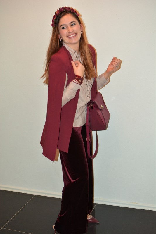 Burgundy & Blush (& why I love velvet pants)
