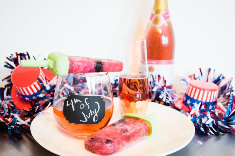 Boozy Popsicles for 4th of July