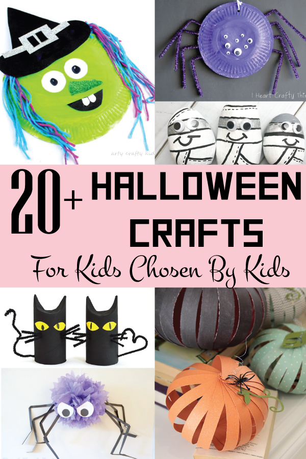 halloween crafts for kids chosen by kids. keep your children busy this Halloween with these scary craft ideas.