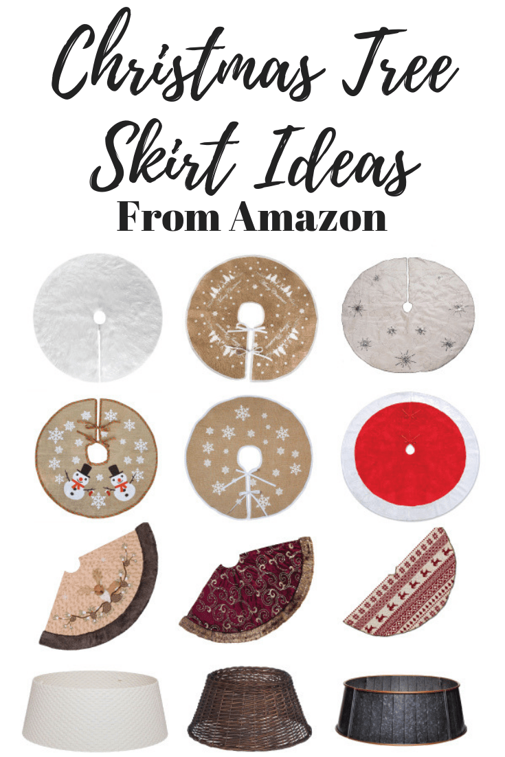 Our favourite Christmas tree skirts ideas form Amazon. Modern and traditional Christmas tree skirts.