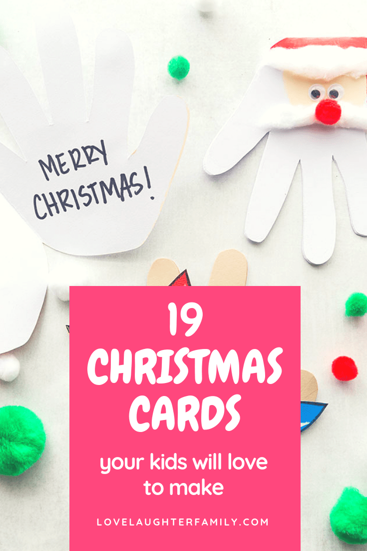 Your kids will ove making these 19 christmas cards, they are all crafty and simple to make.