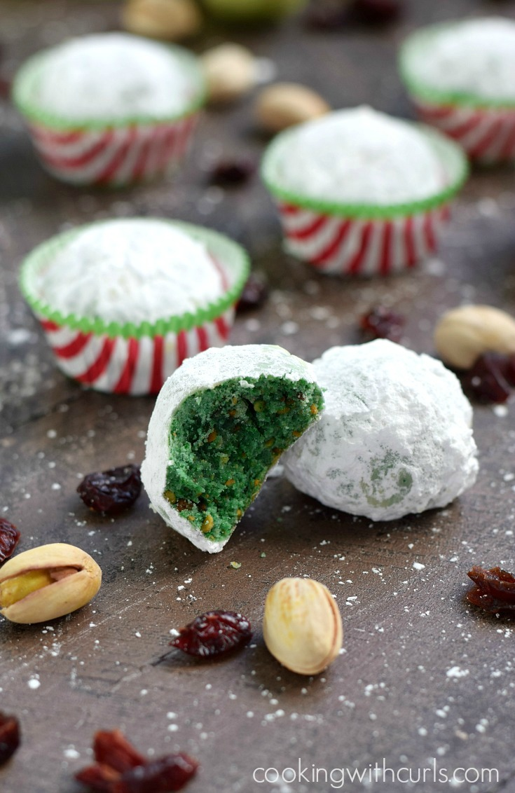 Treat your friends and family this festive season to some Grinch style snowball cookies! Get the recipe.