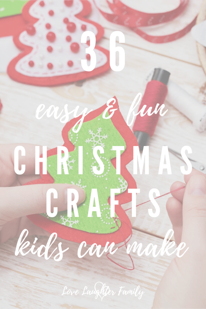 Here are 36 great looking Christmas themed craft ideas that are not only easy to make but will provide hours of fun for your kids.