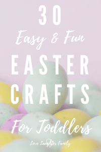 30 cute easy and fun easter crafts that you can make with your toddlers this easter. Crafts that kids and toddlers can make.