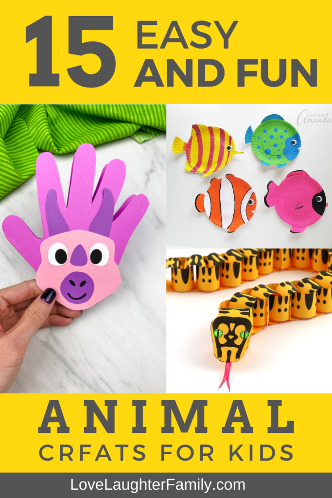 15 easy and fun animal crafts that you can make with your kids or just leave them to it. Try these fun animal crafts today and get creative.