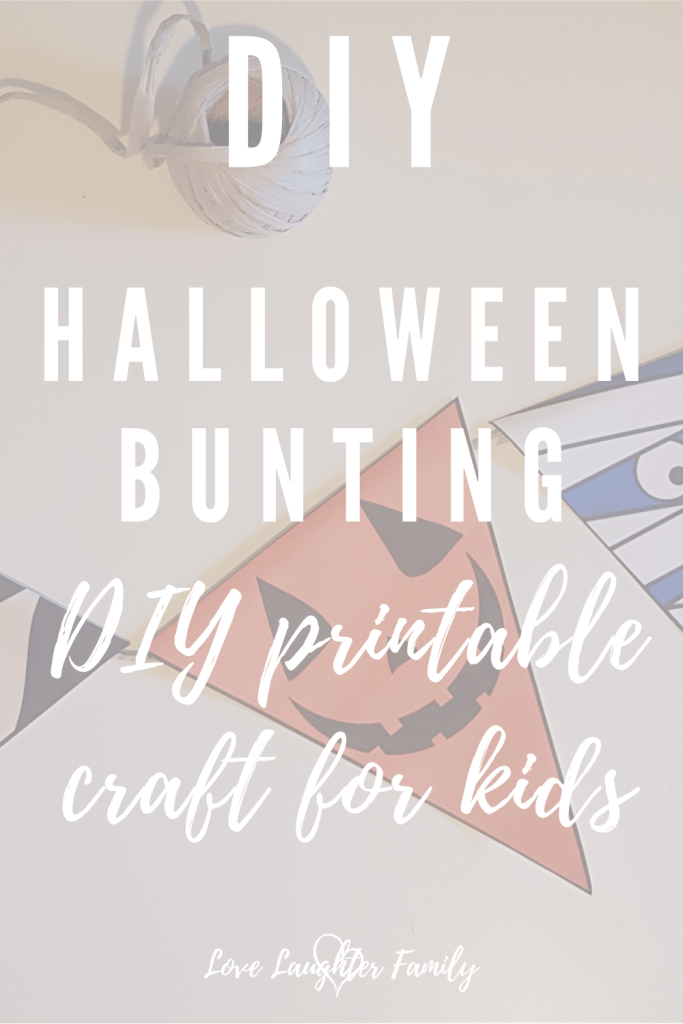 Halloween crafts that kids can make, Halloween bunting! Make your house look spooky this Halloween with our printable Halloween bunting.