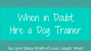 When in Doubt, Hire a Dog Trainer