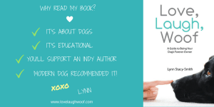 Love, Laugh Woof by Lynn Stacy-Smith as recommended by Modern Dog magazine