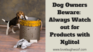 Dog Owners Beware:  Always Watch out for Products with Xylitol