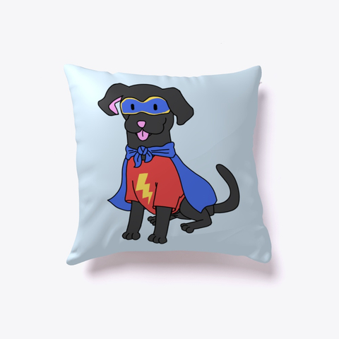 Superdog pillow merch for Love Laugh Woof
