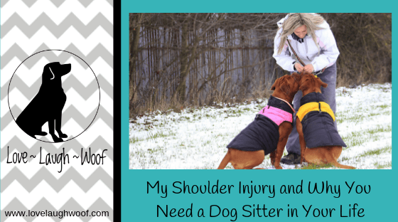 My Shoulder Injury and Why You Need a Dog Sitter in Your Life