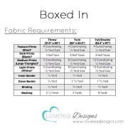 Boxed in Fabric Requirements