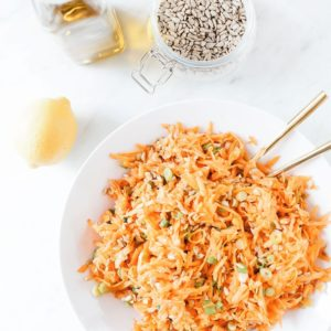 Carrot and sunflower seed salad from above.