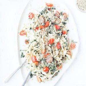 Kale and Cabbage Salad with Creamy Nutritional Yeast Dressing from above.