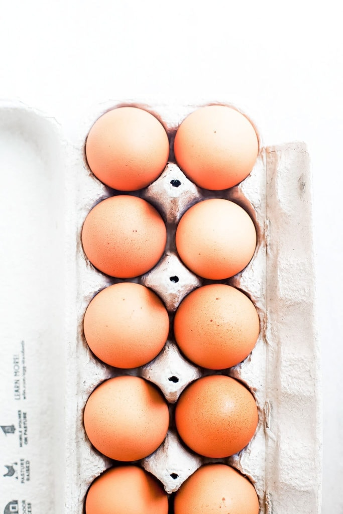 A carton of eggs.