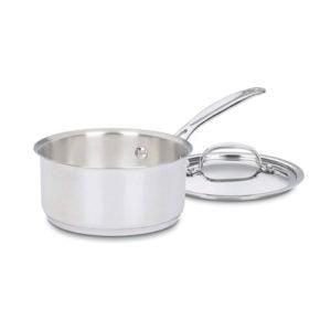 Stainless saucepan.