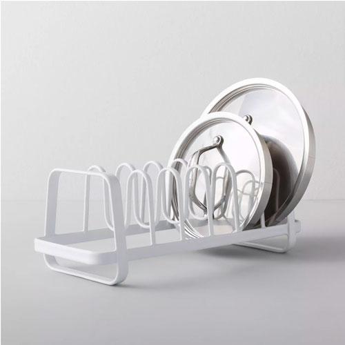 White lid organizer.