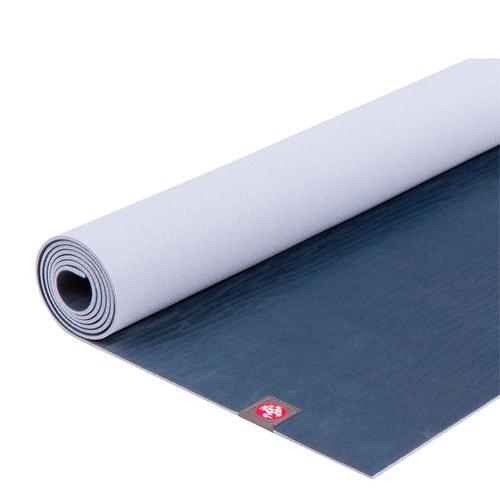 Blue and purple yoga mat.