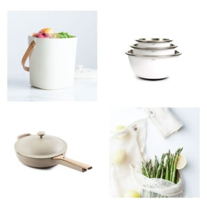 Grid of simple kitchen products.