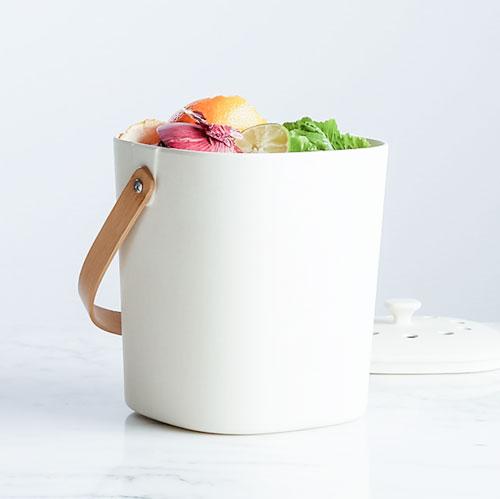 White compost bin.
