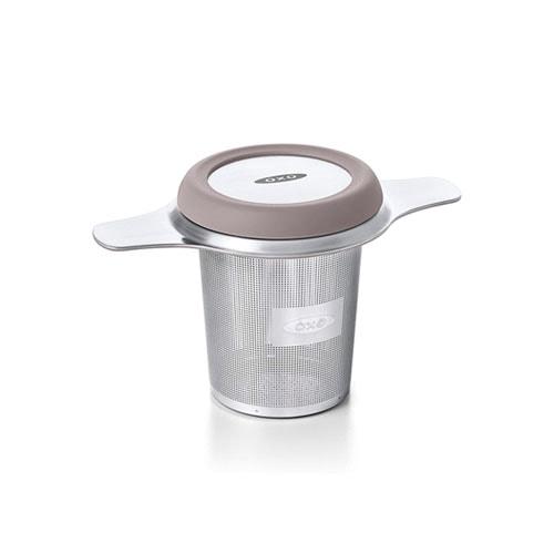 Silver tea infuser.