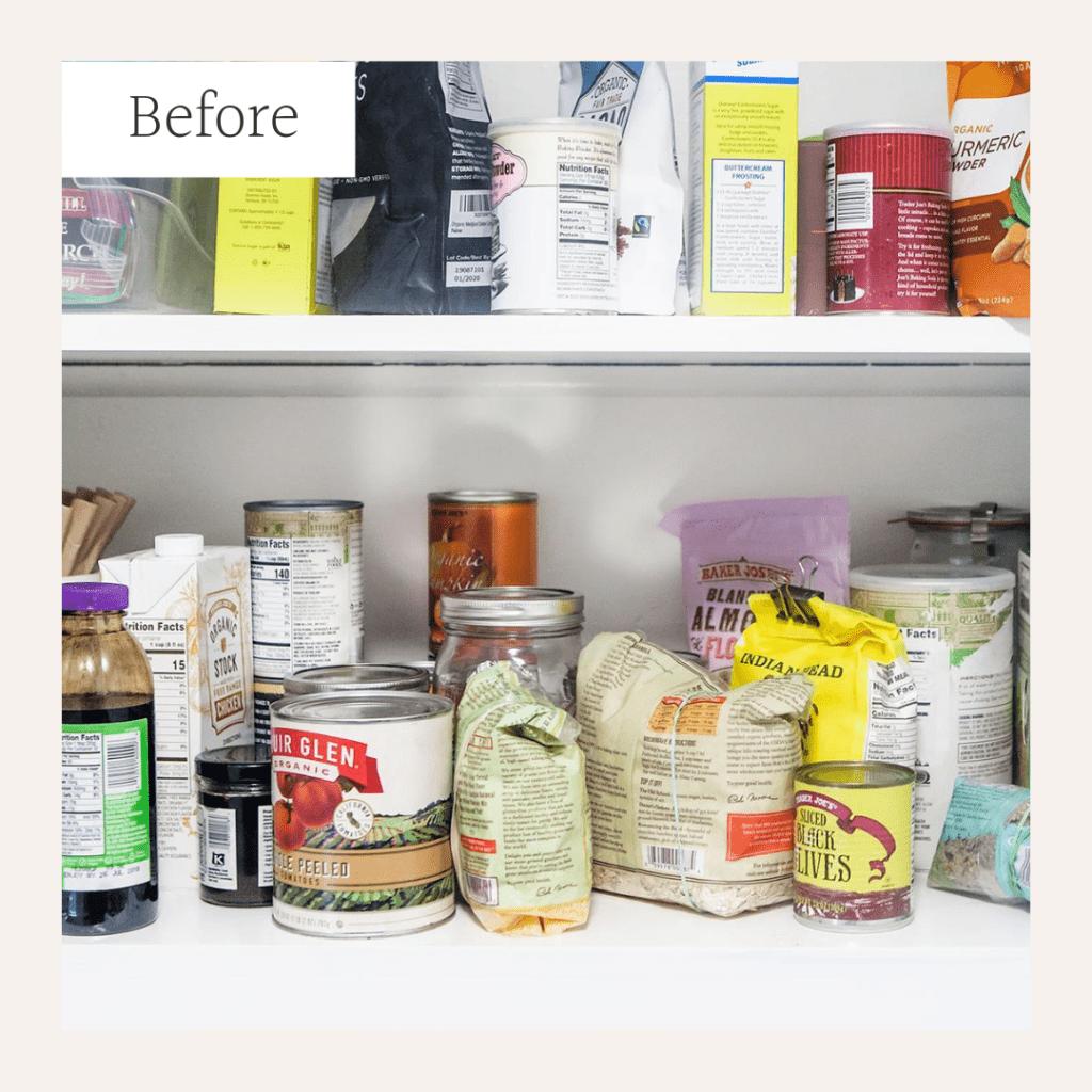Messy pantry.