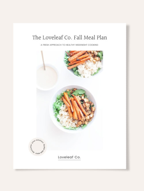 Loveleaf Co. Fall Meal Plan cover.