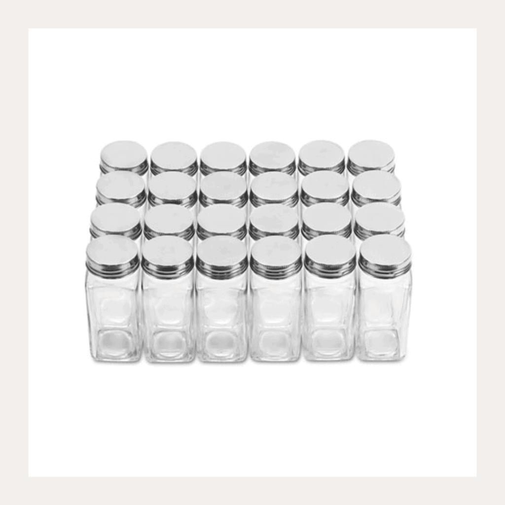 Empty spice jars.