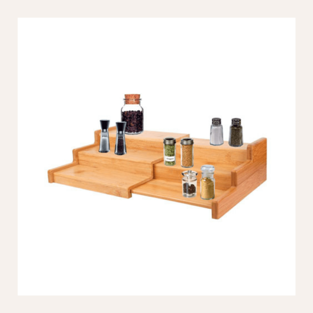 Bamboo spice rack.