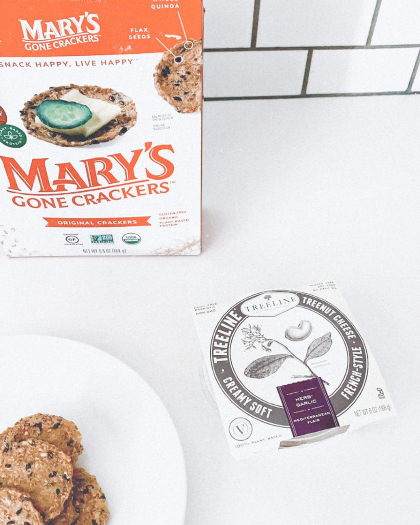 Mary's Gone Crackers with Treeline cheese.
