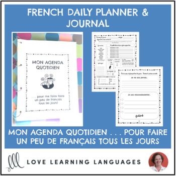 French daily planner and gratitude journal