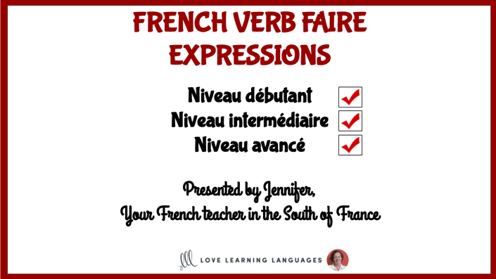 French faire expressions