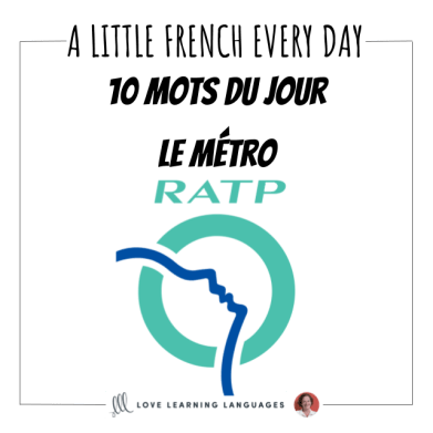 French vocabulary list The subway