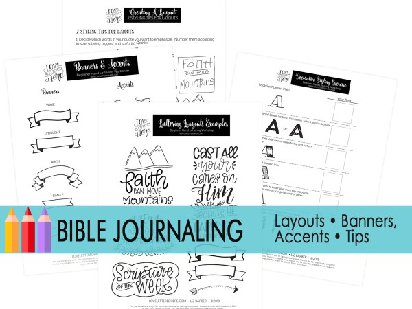 bible journaling faith set