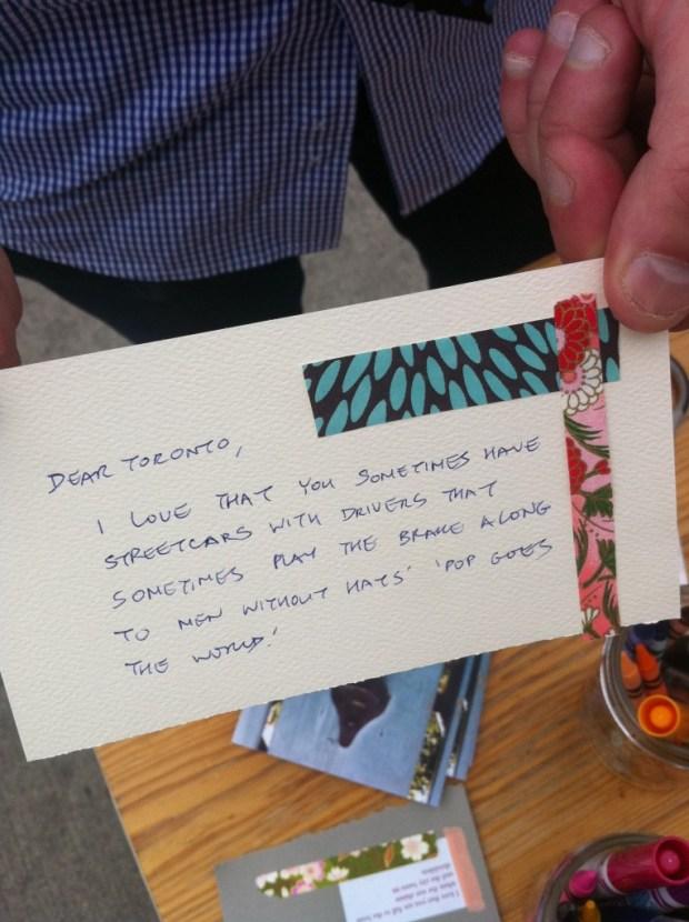 love lettering project, p.s. kensington, love, toronto, airmail envelope