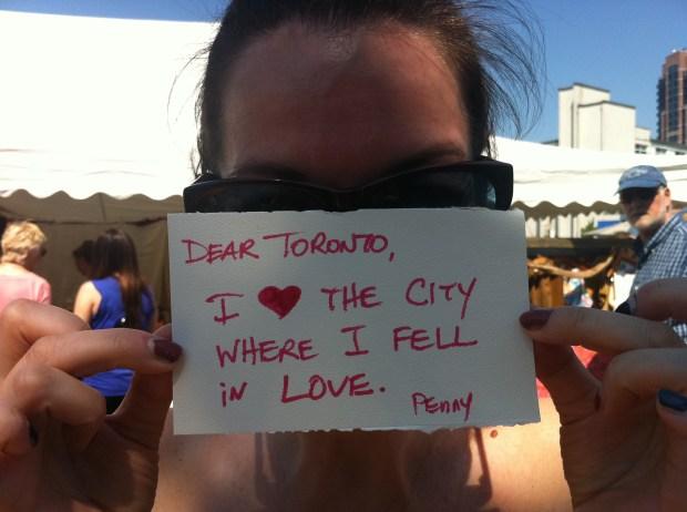 love, love lettering project, toronto, junction, junction flea