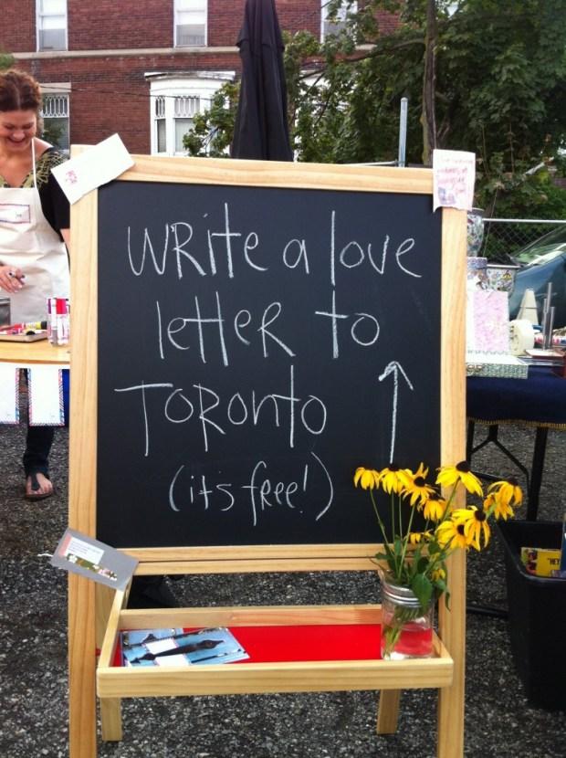 love, love lettering project, junction flea, junction, Toronto, August 13