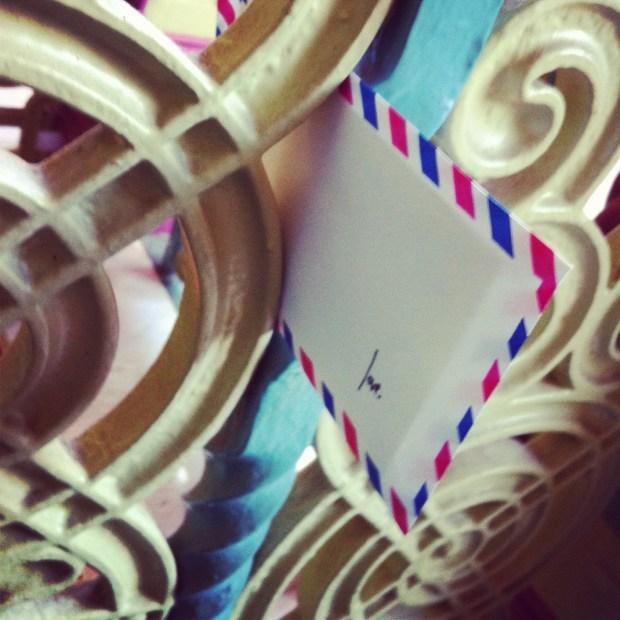 victoria college, love lettering project, love, airmail envelope, poem, Lindsay Zier-Vogel, university of Toronto