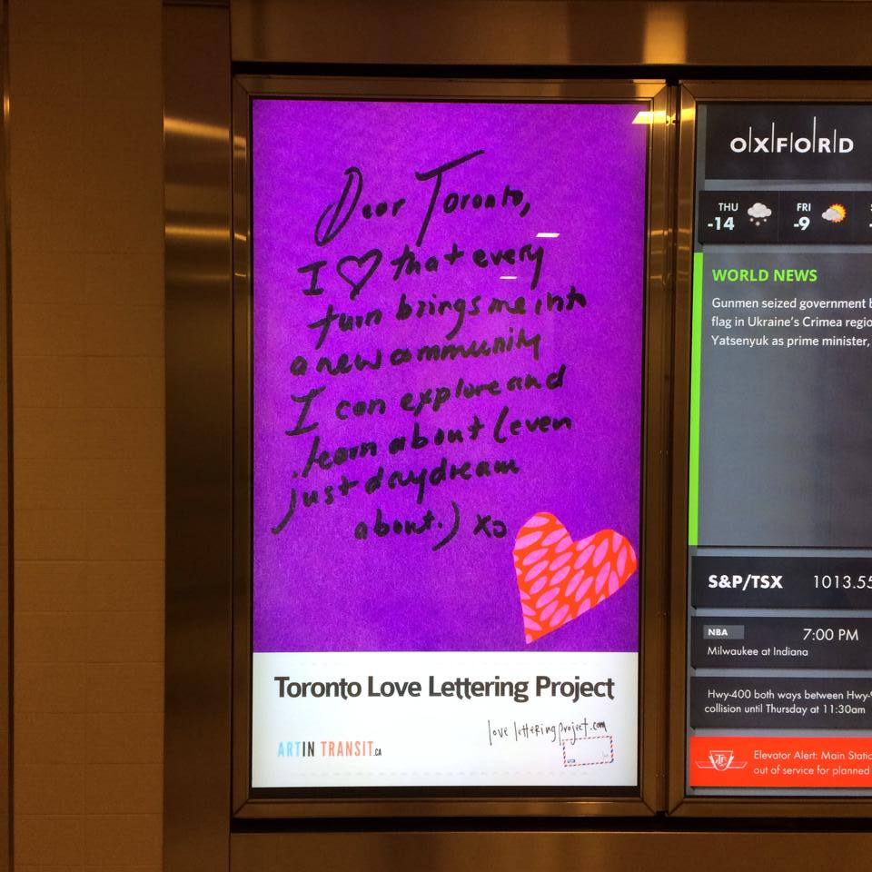 More Toronto Love In The Path