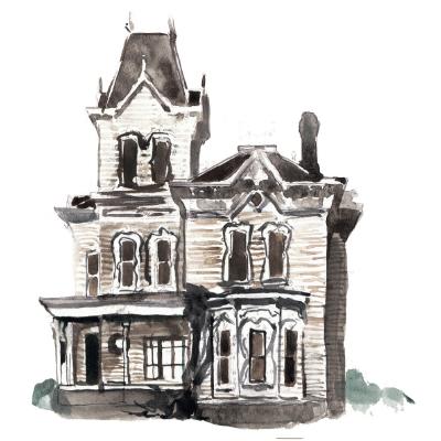 Watercolor Mansion