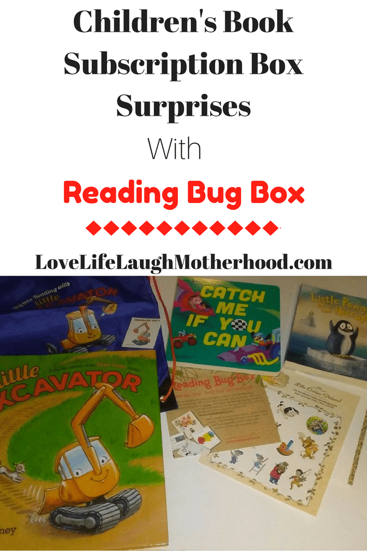 Children's Book Subscripion Box - Reading Bug Box #subscriptionboxes #childrensbooks